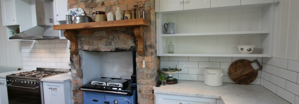 Hamptons kitchen, stone benchtops, smartstone athena, shaker door