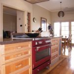 Timber kitchen stone bench island Falcon oven Ballarat Wendouree kitchen joinery designer custom cabinetry