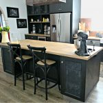 island, kitchen,black, timber bench,industrial,farmhouse,butlers sink