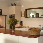 Traditional Kitchen timber bench white joinery designer cabinetry Ballarat