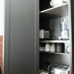 Bi-folding appliance cabinet door, joinery, cabinetry, Ballarat kitchen renovation