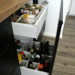 oil drawer, storage for bottles, spice drawer